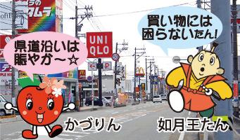 剣道沿いは賑やか〜☆買い物には困らないたん!